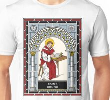 ST. BRUNO under STAINED GLASS Unisex T-Shirt