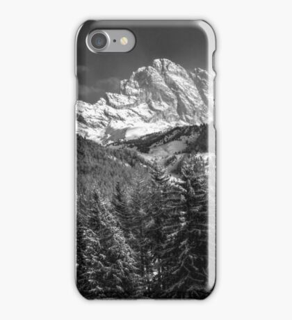 Winter Dolomites In Black And White iPhone Case/Skin