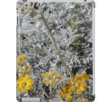 White Yellow iPad Case/Skin
