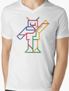 Robot: San Francisco Mens V-Neck T-Shirt
