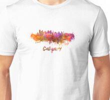 Calgary skyline in watercolor Unisex T-Shirt