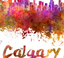 Calgary skyline in watercolor Sticker
