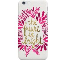 The Future is Bright – Pink & Gold iPhone Case/Skin