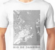 Rio de Janerio Map Line Unisex T-Shirt