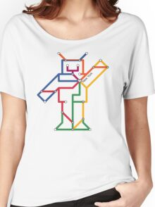 Robot: New York Women's Relaxed Fit T-Shirt