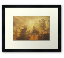 Colorful Orange Yellow Storm Clouds At Sunset Framed Print