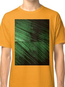 Line Art - The Scratch, green Classic T-Shirt