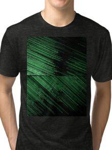 Line Art - The Scratch, green Tri-blend T-Shirt