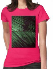Line Art - The Scratch, green Womens Fitted T-Shirt
