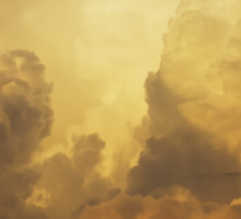Colorful Orange Yellow Storm Clouds At Sunset Sticker