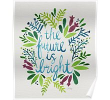 The Future is Bright – Watercolor Poster