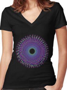 Cloud Mandala Women's Fitted V-Neck T-Shirt