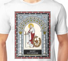 ST CATHERINE under STAINED GLASS Unisex T-Shirt