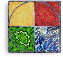 Five Elements Square Circle Metal Print