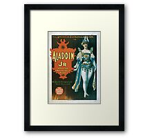 Performing Arts Posters The American Extravaganza Co in Aladdin Jr a tale of a wonderful lamp 0003 Framed Print