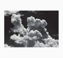 Black And white Sky With Building Storm Clouds Kids Tee