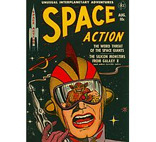 Space Action - Classic Comic Cover Photographic Print
