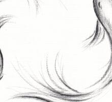 Seijaku - Tranquil Koi charcoal drawing Sticker
