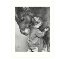 A TENDER MOMENT Art Print