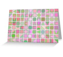 Creative Coding Fuzzy Mosaic Col#2 Greeting Card