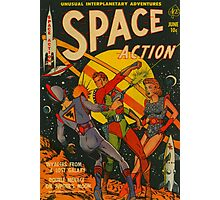 Space Action - Classic Comic Cover - 2 Photographic Print