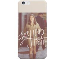 Chasing Life - April Carver/ Keep your head held high iPhone Case/Skin