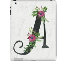 Letter A with Floral Wreath iPad Case/Skin