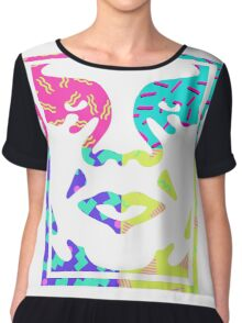 Obey Giant Face Retro Chiffon Top