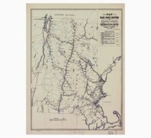 0243 Railroad Maps Map of rail road routes from Rouse's Point to Portsmouth and Boston compiled for the Cocheco Railroad Co November Kids Tee