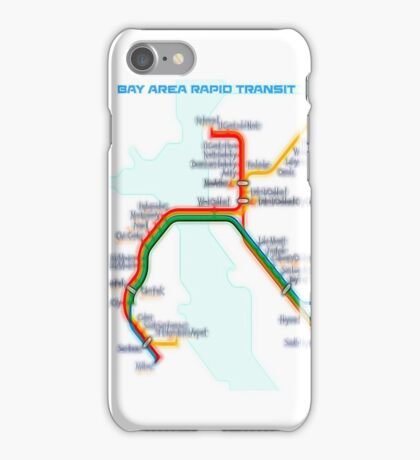San Francisco BART Map iPhone Case/Skin
