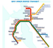San Francisco BART Map Photographic Print