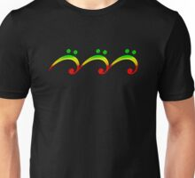 Bass Clef, Wave, Reggae Music, Surf Unisex T-Shirt