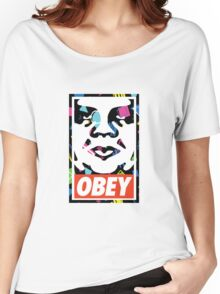 Retro Obey 90s Logo Women's Relaxed Fit T-Shirt