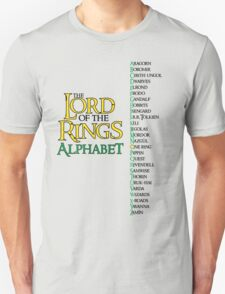 Lord of the Rings Alphabet T-Shirt