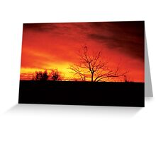 Sunset Ink Greeting Card
