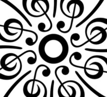 Bass & Treble Clef, Mandala, Music, Musician, Classical, Dance Sticker