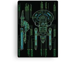 USS Enterprise Wireframe Canvas Print