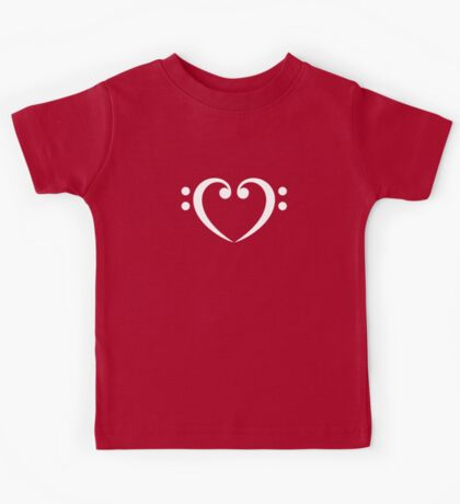 Bass Clef Heart, Music, Musician, Party, Festival, Dance Kids Tee