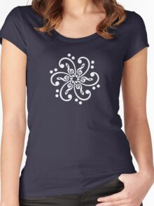 Bass & Treble Clef, Mandala, Music, Musician, Classical, Dance Women's Fitted Scoop T-Shirt