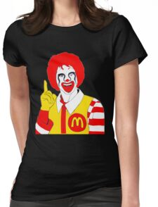 Ronald Mc Manson Womens Fitted T-Shirt