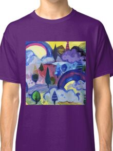 Dreamland - Landscape with Rainbows Classic T-Shirt