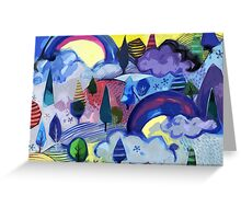 Dreamland - Landscape with Rainbows Greeting Card