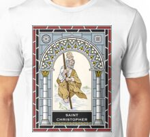 ST CHRISTOPHER under STAINED GLASS Unisex T-Shirt