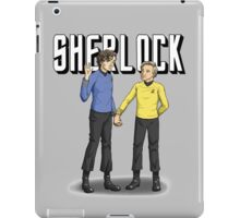 Live long and crime-solve iPad Case/Skin