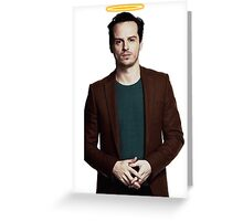 Andrew Scott with a halo Greeting Card