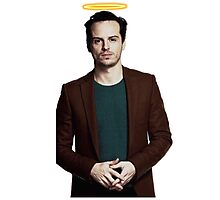 Andrew Scott with a halo Photographic Print