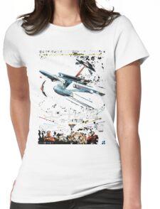Star Trek Japanese Poster Womens Fitted T-Shirt