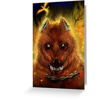 Fire Wolf Greeting Card
