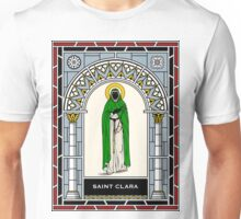 ST CLARA (CLARE) OF ASSISI under STAINED GLASS Unisex T-Shirt