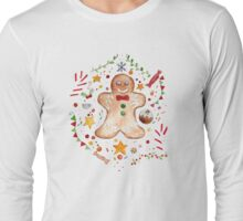 Christmas Gingerbread Long Sleeve T-Shirt